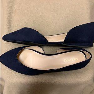 NIB - Sz 9 - Women's Navy Ballet Flats
